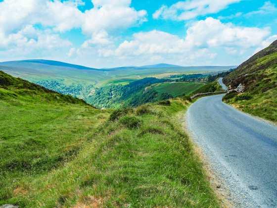 Driving through the Irish countryside