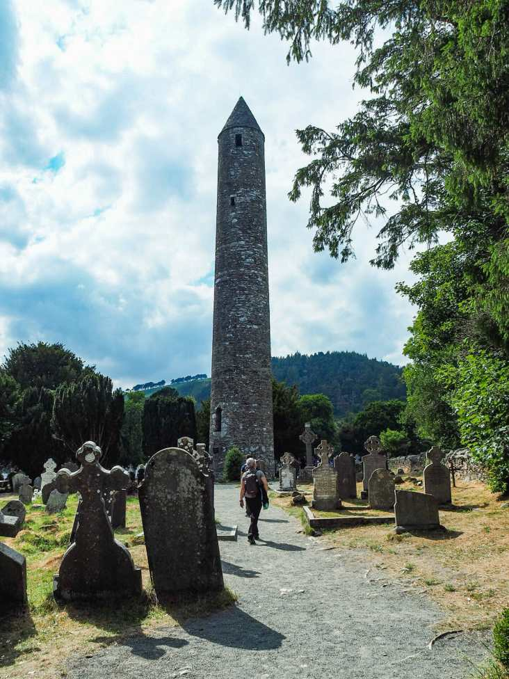 The Round Tower rising 30m above Glendalough