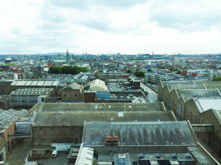 The view over Dublin from the Gravity Bar