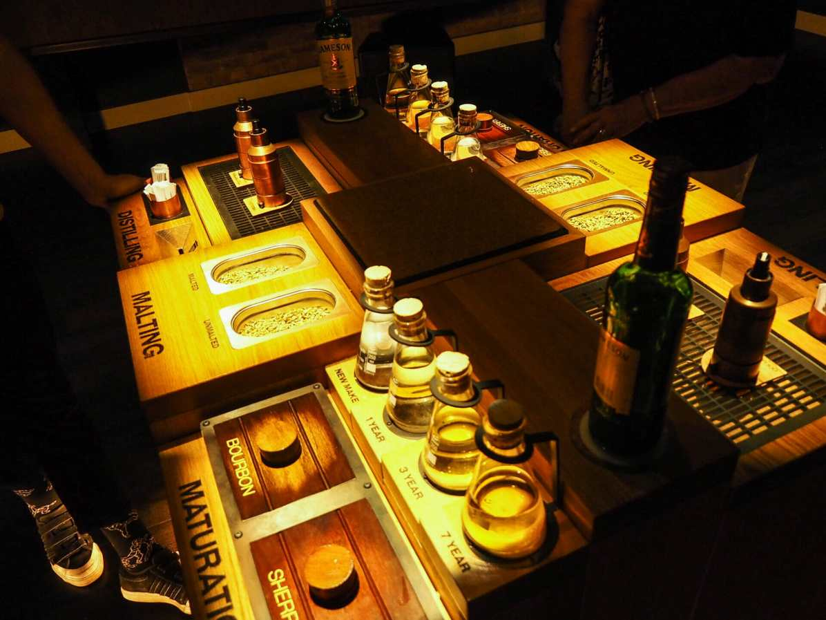 A sensory experience on the distillery tour