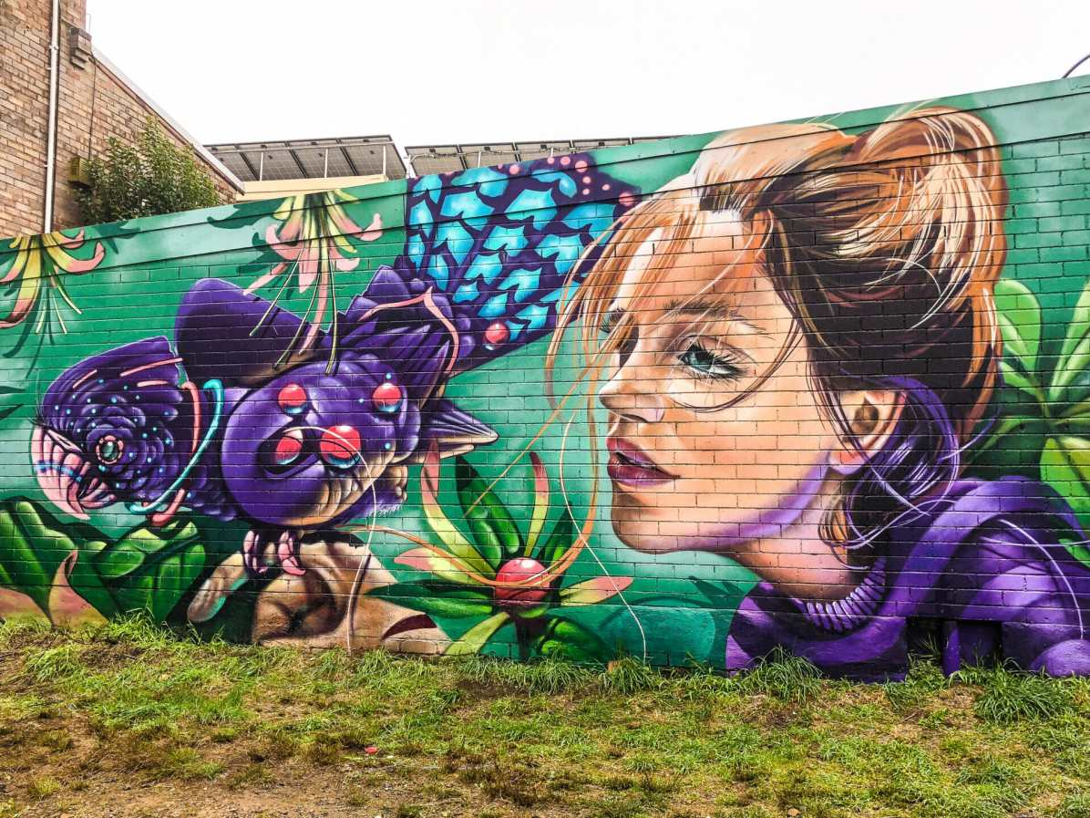 Beautiful artwork in Beverly Place, Katoomba