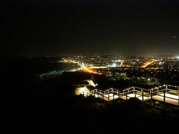 Memorial Walk in the dark