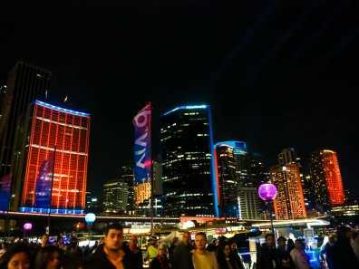 Sydney CBD all lit up