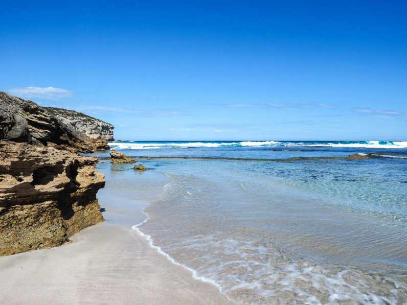 Beautiful beach at Emu Bay