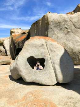 Hanging out inside a pretty remarkable rock