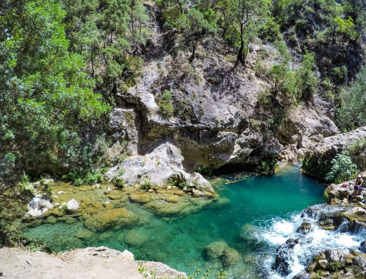 Swimming hole Cascades d'Akchour Morocco