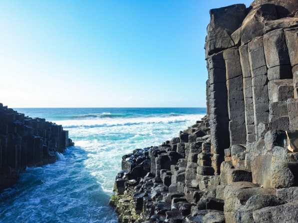 Towering basalt columns at Fingal Head