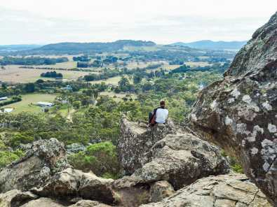 Enjoying the view from the summit of Hanging Rock