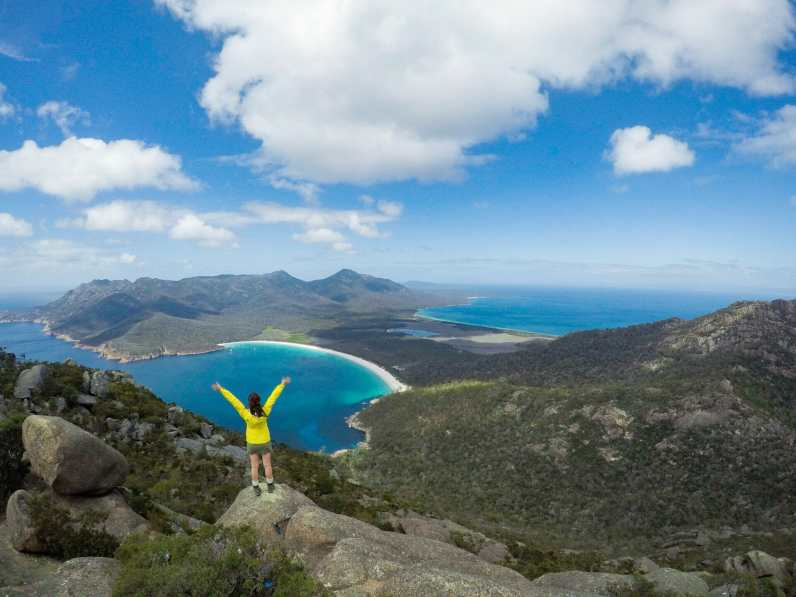 Wineglass Bay from above