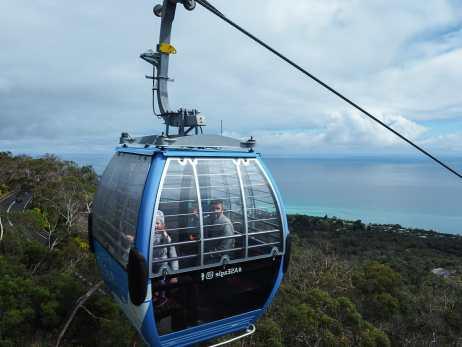 Taking a ride on the Arthur's Seat gondola