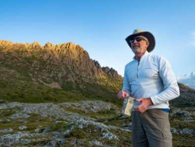 Dad whipping up some mountain margaritas