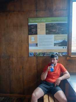 Cal at Waterfall Hut