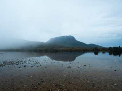 Cloudy lake views