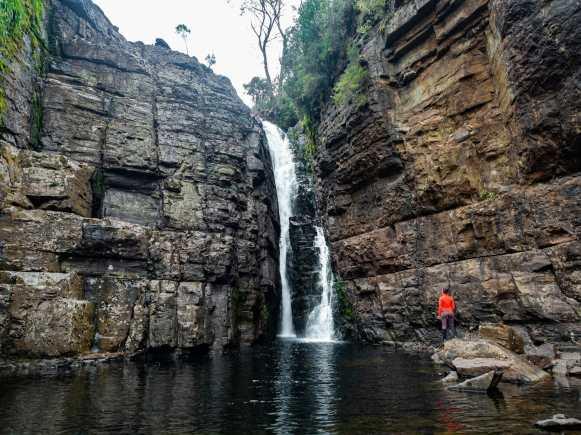 Perfect swimming hole at Hartnett Falls