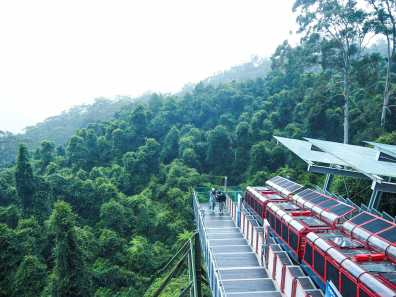 World's steepest railway at Scenic World