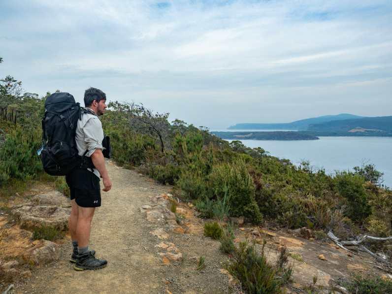Climbing up Arthur's Peak