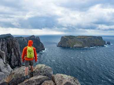Dad checking out Tasman Island