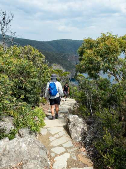 The trail down from Cape Huay