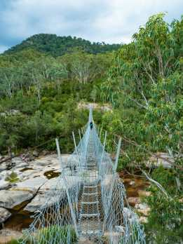 Crossing Cox River, the dry way