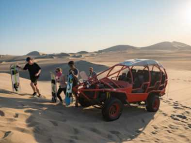 Arriving at the last sand dune