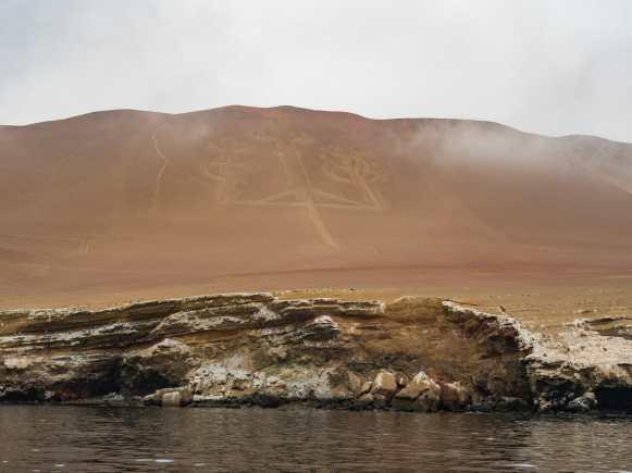 The famous Paracas Candelabra