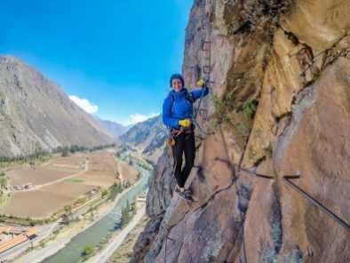 Via ferrata climbing in the Sacred Valley