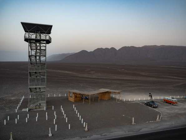 Viewing tower over the Nazca Lines