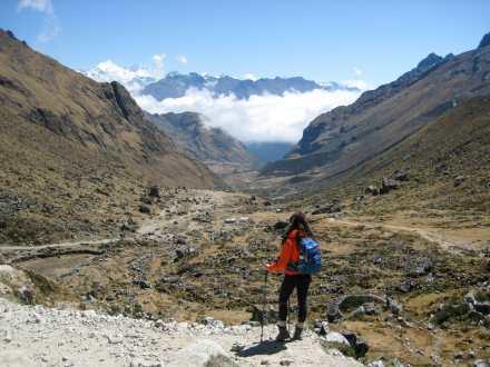 Beginning our descent of Salkantay Pass