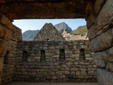 Exploring ruins at Machu Picchu