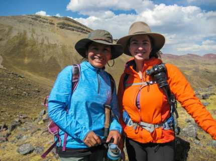 Me and our guide, Delia