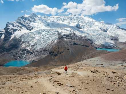 Views of Ausangate at Pucacocha Pass
