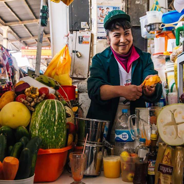 Fresh juice at San Pedro Markets