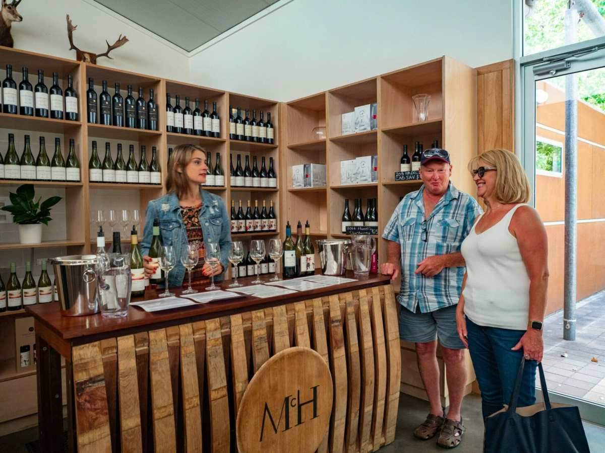 People at McHenry Hohnen wine cellar door Margaret River
