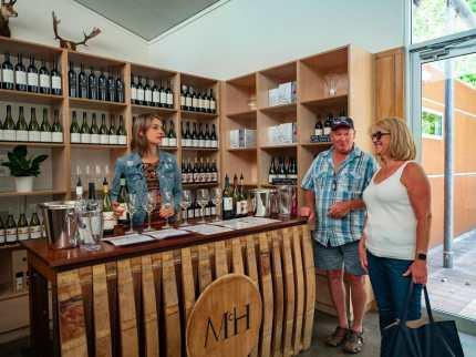 People at McHenry Hohnen wine cellar door Margaret River