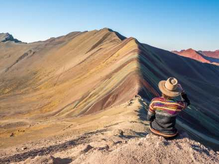 Rainbow Mountain before the crowds