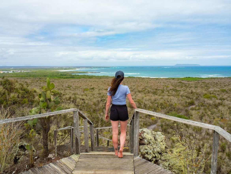 Girl looking at ocean Isla Isabela