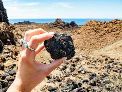 Volcanic rock on Isla Bartolomé