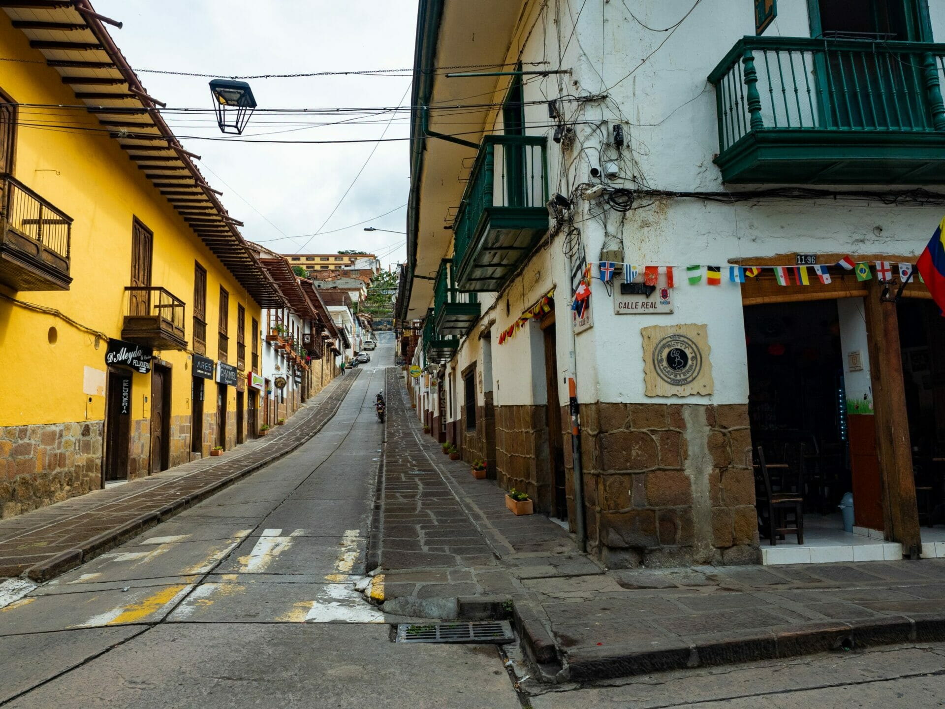 Street in San Gil Colombia