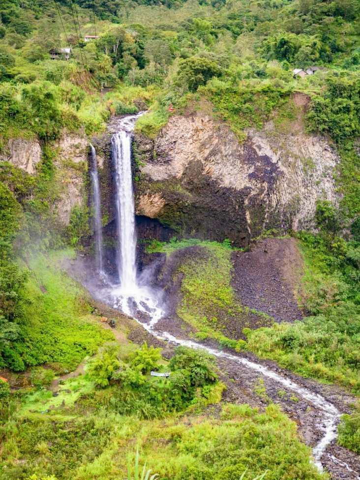 Cascada Manto de la Novia waterfall Baños Ecuador