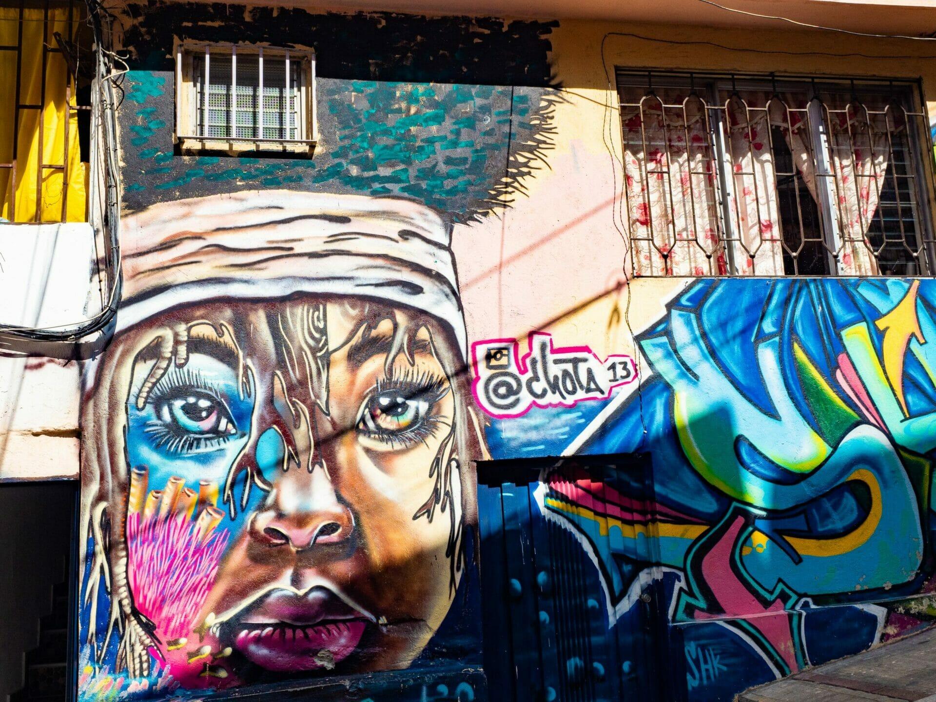 Graffiti street art Medellín Colombia