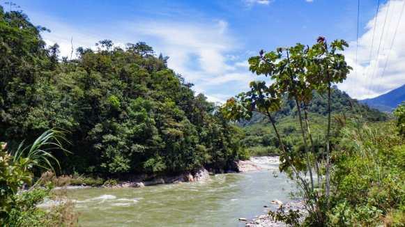 River in Baños Ecuador