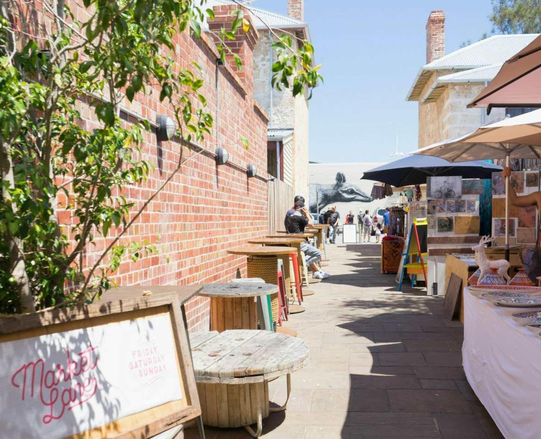 Art at market Fremantle Western Australia