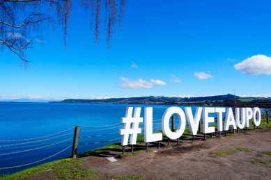 Lake Taupo on the north island