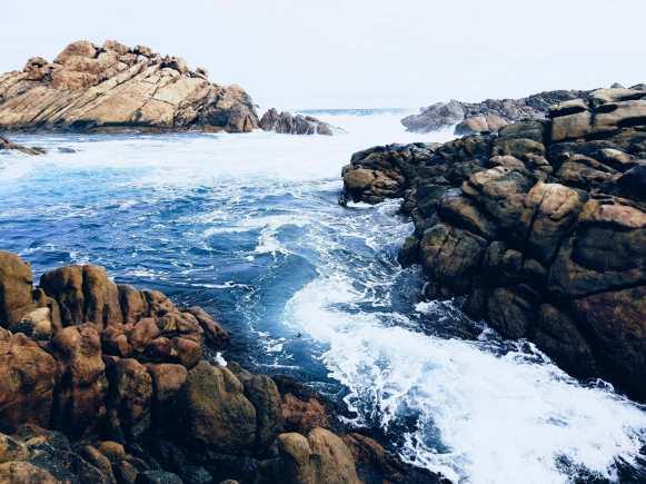 Sugarloaf Rock in Indian Ocean Western Australia