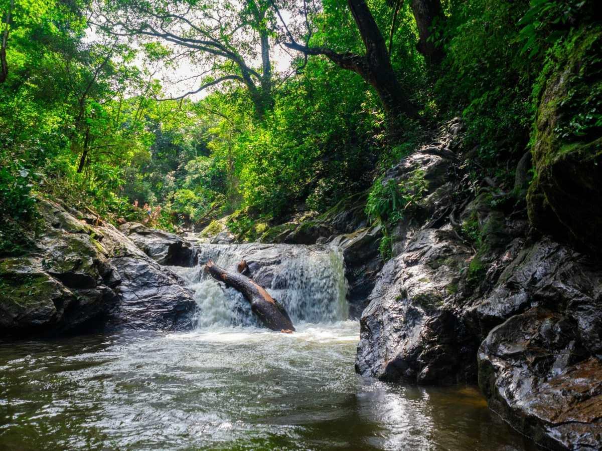 Pozo Azul swimming hole waterfall Minca Colombia