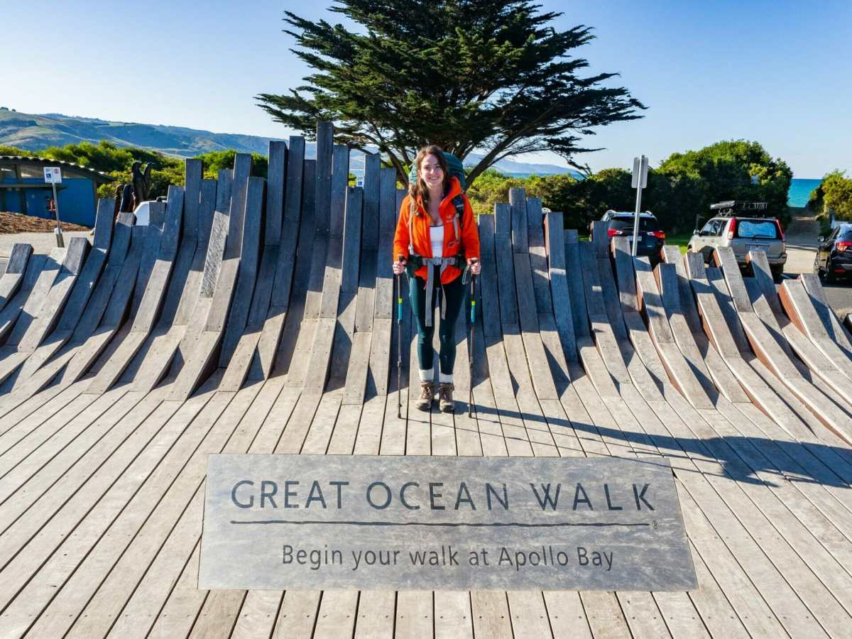 Great Ocean Walk Apollo Bay girl solo hiker