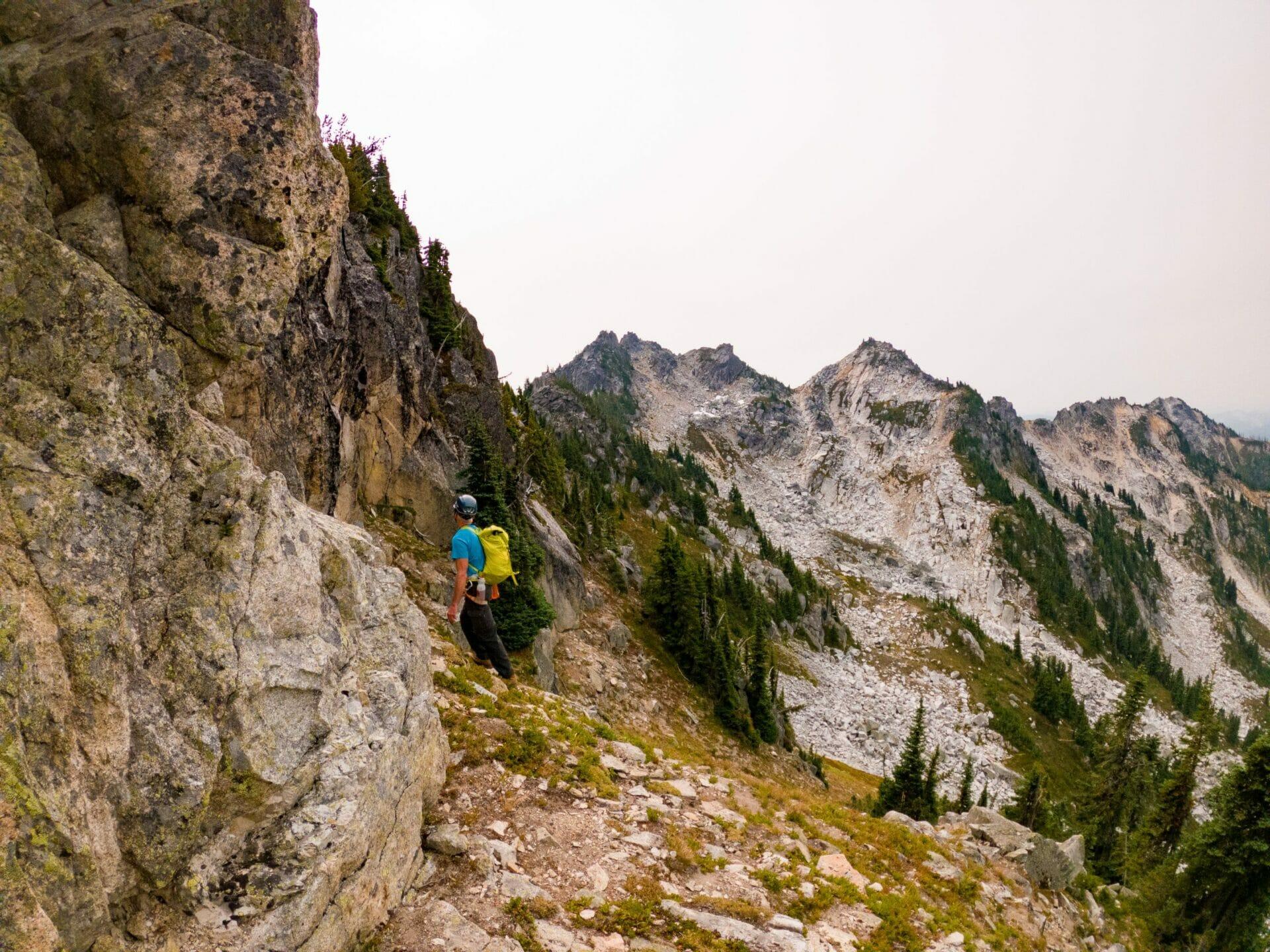 climbing Bulls Tooth Alpine Lakes Wilderness