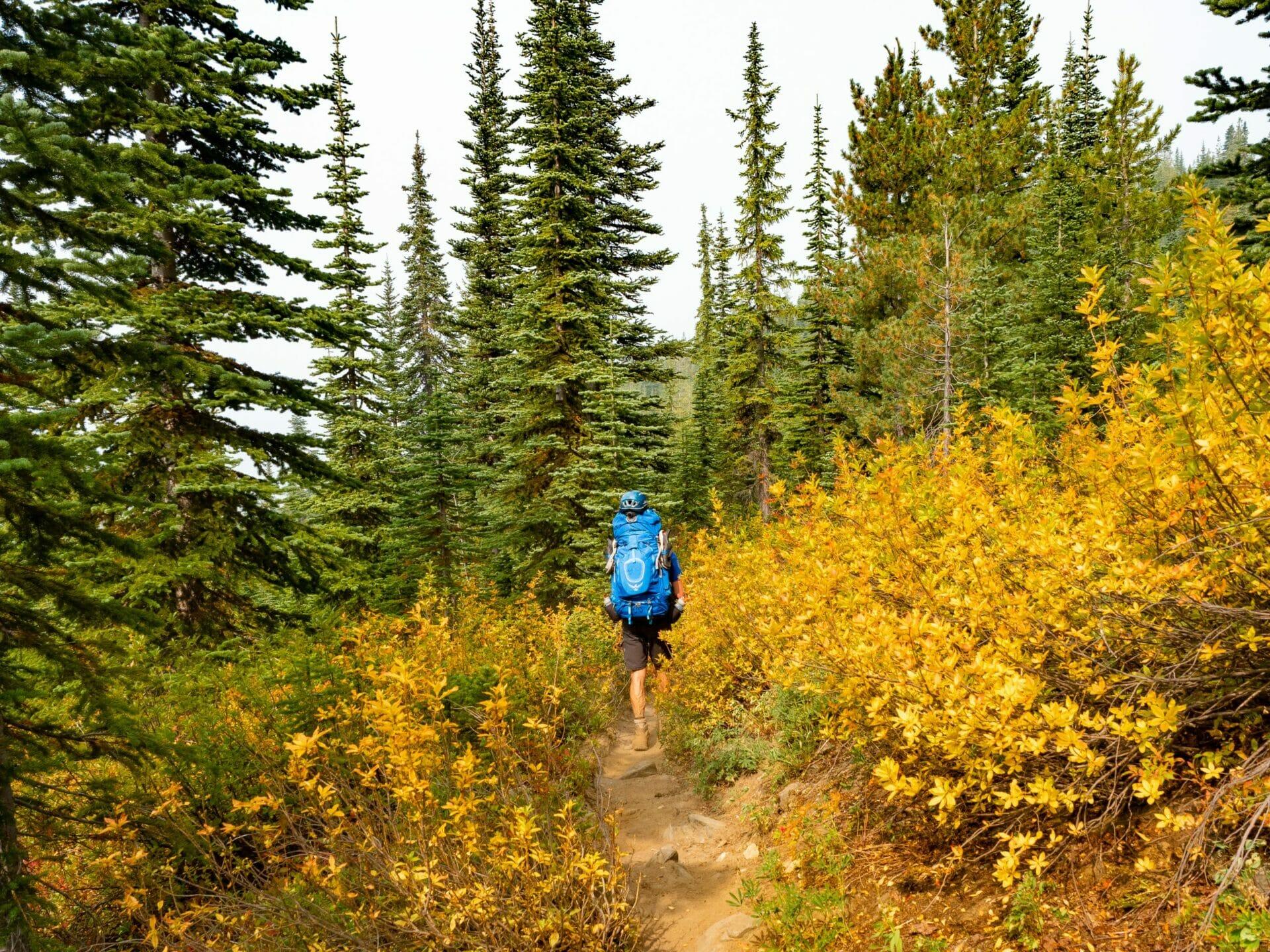 hiking autumn Alpine Lakes Wilderness