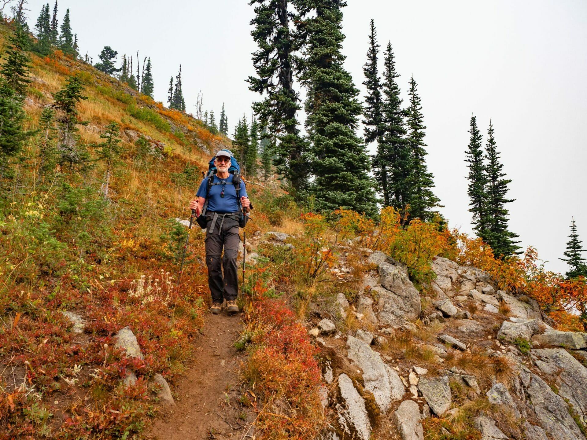 girl camping hiking Alpine Lakes Wilderness