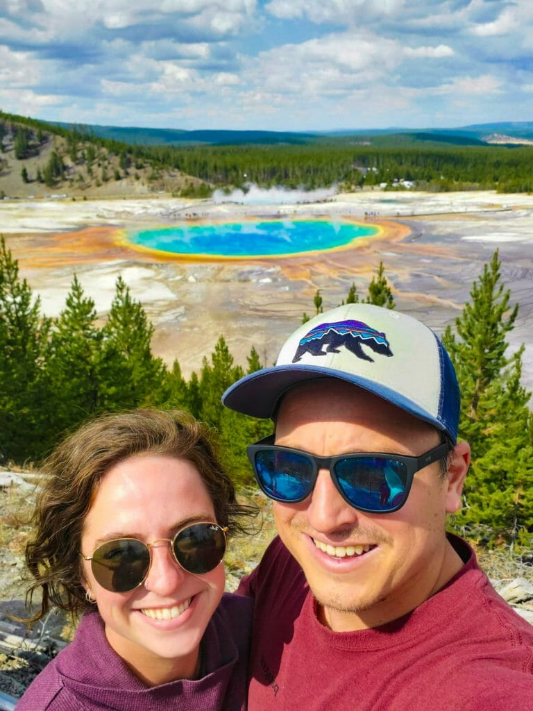 Yellowstone National Park itinerary Grand Prismatic